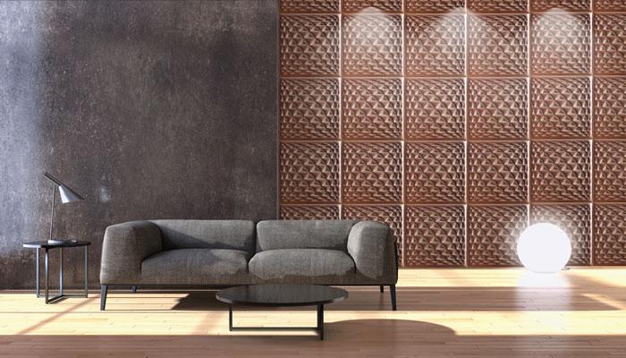 دیوارپوش چرمی سه بعدی با طرح ZIGMA