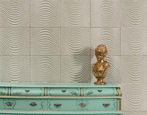 دیوارپوش چرمی سه بعدی با طرح veina