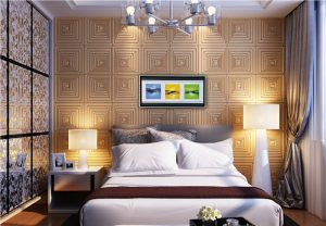 دیوارپوش چرمی سه بعدی با طرح tokyo