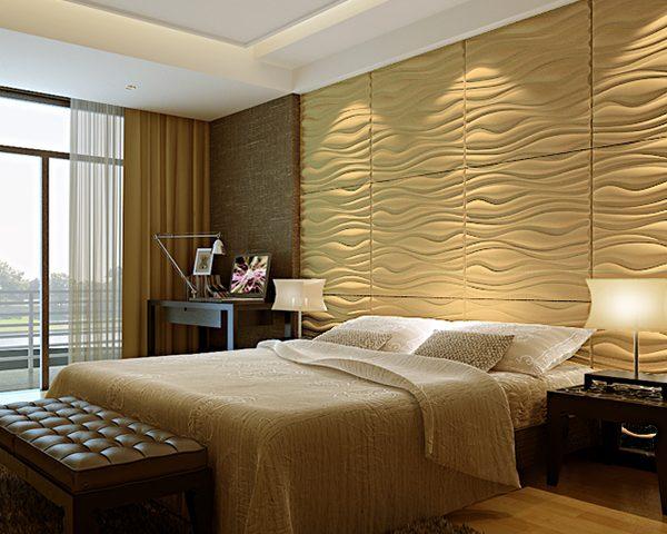 بکارگیری دیوارپوش چرمی در اتاق خواب