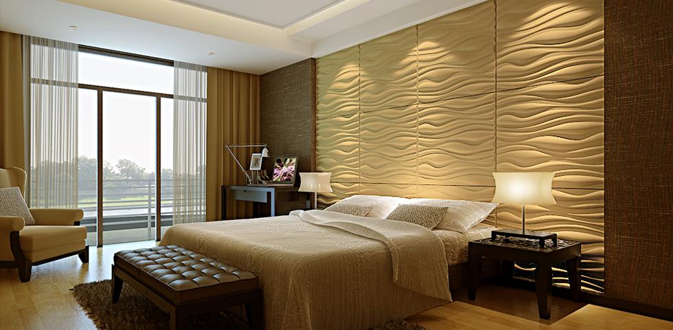 بکارگیری دیوارپوش های چرمی در اتاق خواب