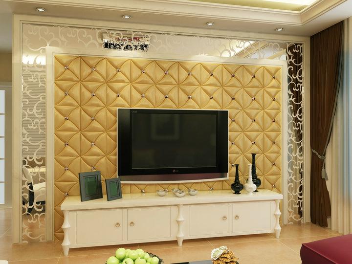 ایده هایی جهت بکاگیری دیوارپوش های چرمی بر روی دیوار پشت تلویزیون